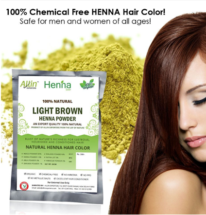 Choose Light Brown Henna Hair Color for A Funky Look - photo #18