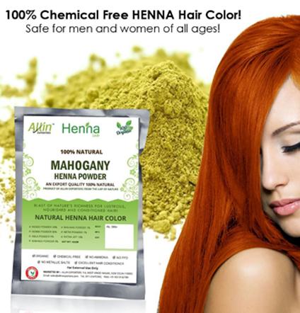 Mahogany Henna Hair Color